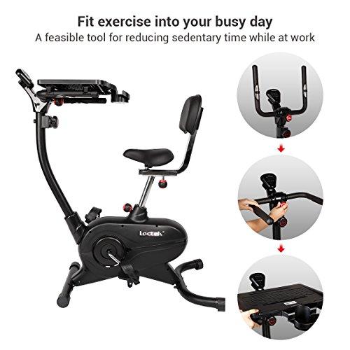 Loctek Desk Exercise Bike Work Cycling Upright workstation