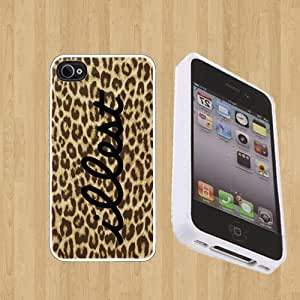 ILLEST Cheetah Print Custom Case/Cover FOR Apple iPhone 4 / 4s** WHITE** Rubber Case ( Ship From CA )