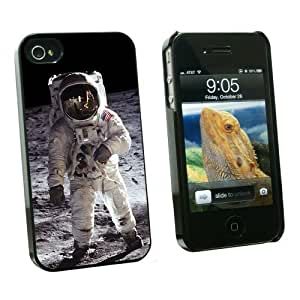 Graphics and More Apollo 11 Moon Landing - Astronaut Space - Snap On Hard Protective Case for Apple iPhone 5c - Black - Carrying Case - Non-Retail Packaging - Black