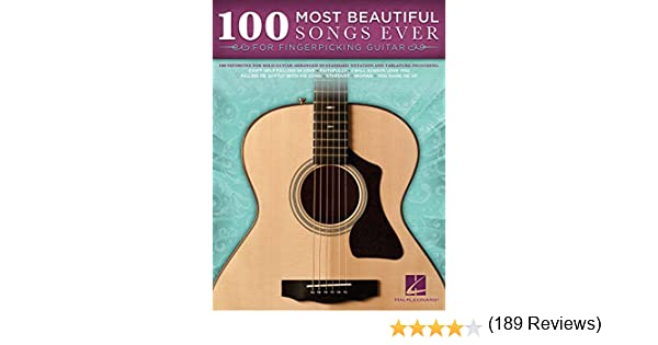 100 Most Beautiful Songs Ever for Fingerpicking Guitar (Songbook ...
