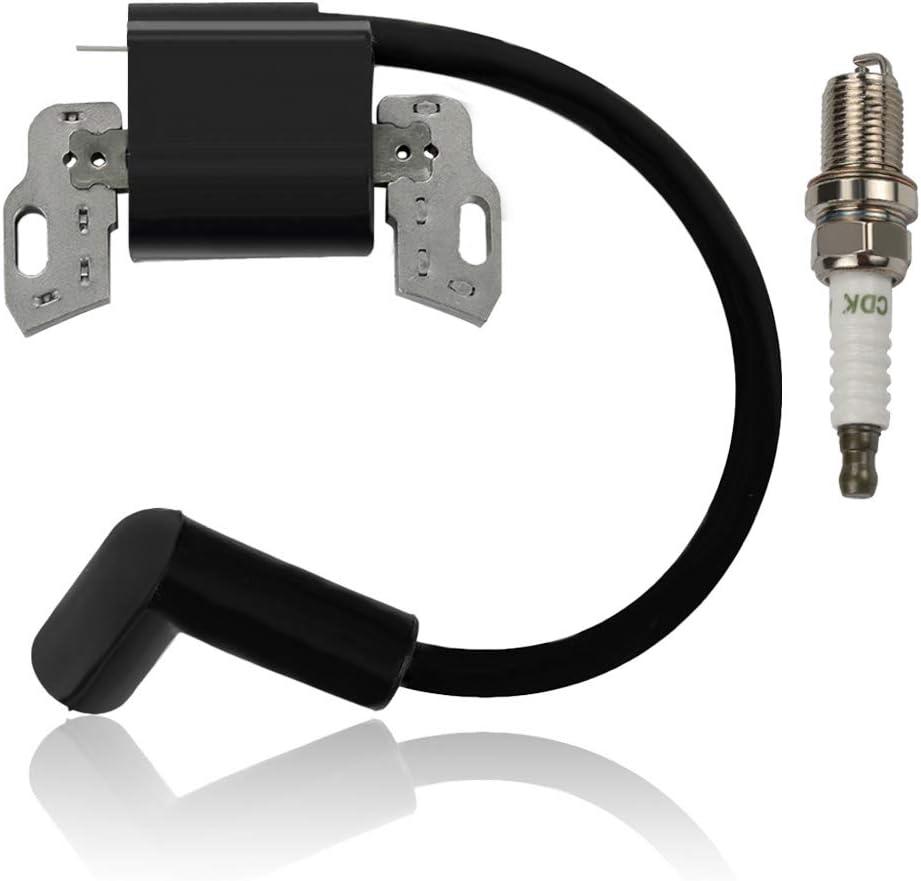 Alibrelo 593872 Ignition Coil Armature Magneto with Spark Plug for 08P502 09P602 09P702 093J02 08P600 Engines Replace 799582 798534