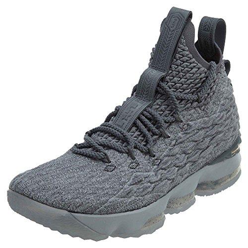 Nike Herren Lebron XV Basketballschuhe Grau (Wolf Grey/cool Grey/metallic Gold 005)