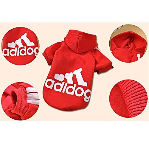 Pull Veste Jumpsuit Ad Pour Chien Costume Chaud Vêtements Red Pet Coton Dog Capuche Manteau Dulee wAavqv