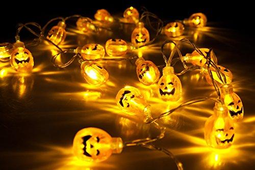 velice battery operated led fairy string lights 3d pumpkin 20 led lights halloween christmas decoration lights pumpkin light - Halloween Lights