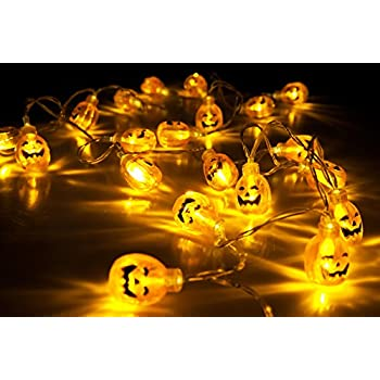 velice battery operated led fairy string lights 3d pumpkin 20 led lights halloween christmas decoration lights pumpkin light - Halloween Pumpkin Lights
