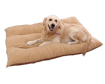 GUOCU Suministros para Mascotas Otoño Invierno Calentar Familia Interior Colchón Cojin de Lujo Cama para Mascotas Marrón Claro L: Amazon.es: Productos para ...