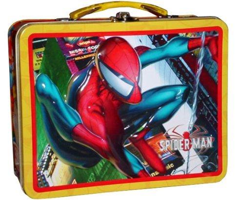 (Marvel Spiderman Tin Box Lunch Box w/ Handle)