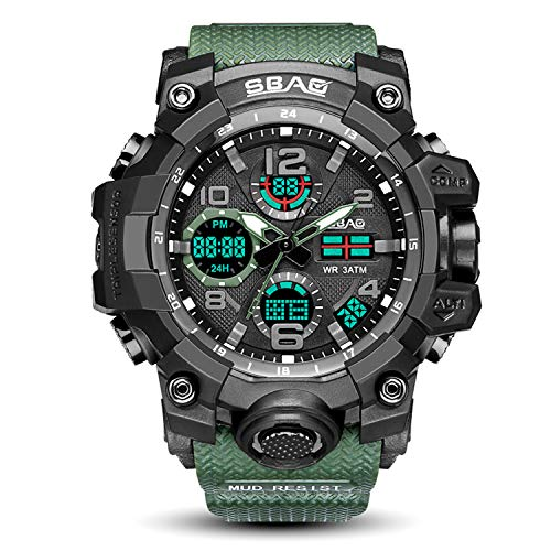 - Multifunction Sport Watch Men Analog Waterproof Military Chronograph Clock Electronic LED Digital Big Face Analog Digital Watch for Men