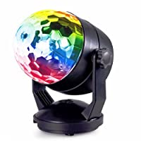 Party Lights Star Show Light, Hotpai Sound Activated Disco Ball Light, Portable DJ Strobe Light 5W RGB 7 Colors Stage Lights with Suction Cup