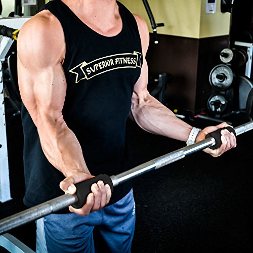 +PREMIUM ULTIMATE THICK GRIP Barbell and Dumbbell Thick Grips Increase Bicep, Forearm, Tricep, and Chest Workouts