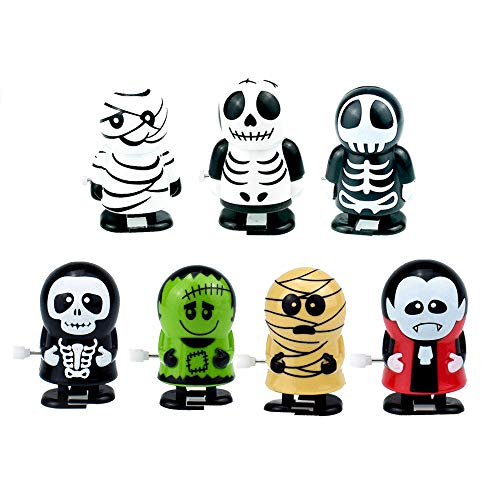 X Hot Popcorn 7 Style Wind Up Toys Halloween Toy, Kids Party Favors Children's Birthdays Gifts ()