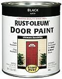 paint front door Rust-Oleum 238310 Door Paint, Black, 1-Quart