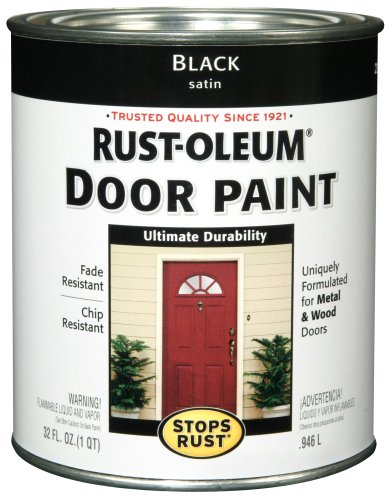 Rust-Oleum 238310 Door Paint, Black, 1-Quart