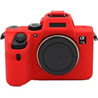 Phoneix Detachable Silicone Rubber Camera Cover for Sony A7 III A7R III ILCE Alpha A7S III A7M3 XJPT-A7III (Red)
