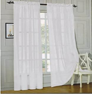 Decorating sheer panels for windows : Amazon.com: Elegant Comfort voile84 Window Curtains Sheer Panel ...