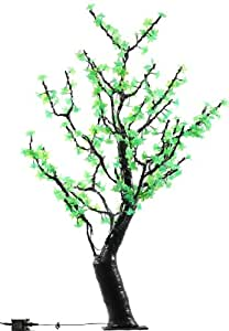 Hi-Line Gift Ltd. 39022-GN 48-Inch high Indoor/ outdoor LED Lighted Trees with 288 LEDS, Green