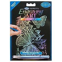 "Royal Brush 5 by 7"" Rainbow Foil Engraving Art Kit, Mini, Butterflies"