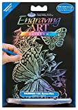 Royal Brush 5 by 7-Inch Rainbow Foil Engraving Art Kit, Mini, Butterflies