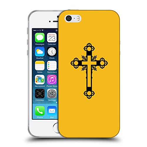 GoGoMobile Coque de Protection TPU Silicone Case pour // Q07900602 Christian Cross 15 ambre // Apple iPhone 5 5S 5G SE