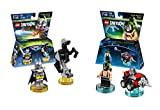Lego Dimensions Bundle of 2 - Excalibur Batman + Bionic Steed Fun Pack (71344) and DC Bane Fun Pack (71240)