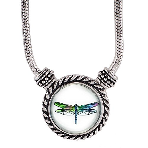 Dragonfly Snap Charm Necklace for Interchangeable Snap Charms ()