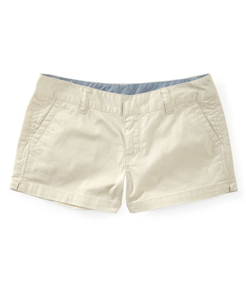 Aeropostale Women's Khaki Shorty Chino Shorts Khaki 1/2
