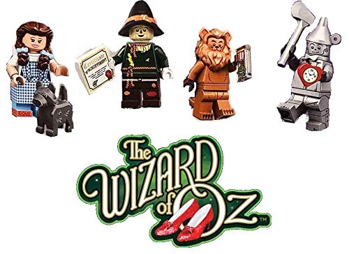 LEGO The Movie Series 2 Wizard of Oz Minifigures - Dorthy, The Tin Man, Scare Crow, The Cowardly Lion (71023) -