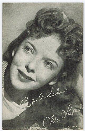 Exhibit Ida Lupino Arcade Card: BW 1940s (13mm MADE IN U.S.A.) Series