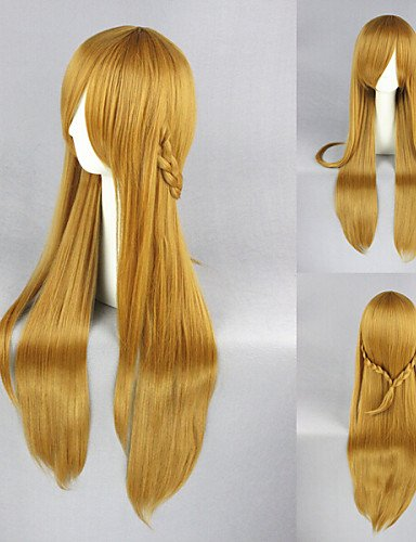 Simple and Convenient pelucas pelo europeo 36 Inch de espada de Online Asuna Brown Anime Cosplay