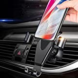 Electronics : JAHMAI Car Phone Holder, Air Vent Gravity Sensing Auto Lock Metal Phone Mount Smart No Touch Design One hand Operate for iPhone X/8/7/6s/Plus/5S/4S, Samsung S8/S7/S6/Note and Other Smartphones