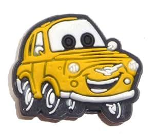 Amazon.com: Luigi yellow Fiat 500 in Cars the Movie Disney