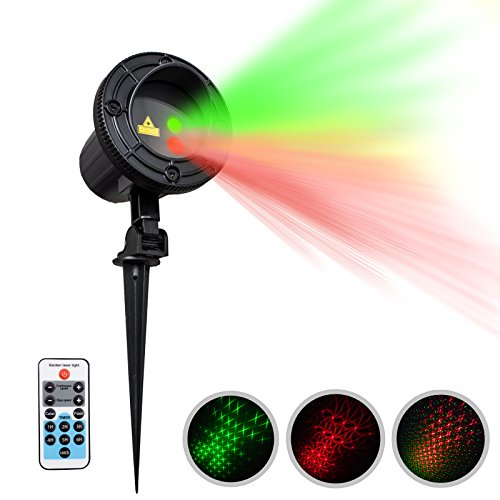 IMAXPLUS-Magic-Laser-Christmas-Lights-Outdoor-Christmas-Laser-Garden-Lights-Projector-With-IR-Wireless-Remote-Timer-Sixteen-Patterns-for-Christmas-Holiday-Party-Landscape-and-Garden-Decoration