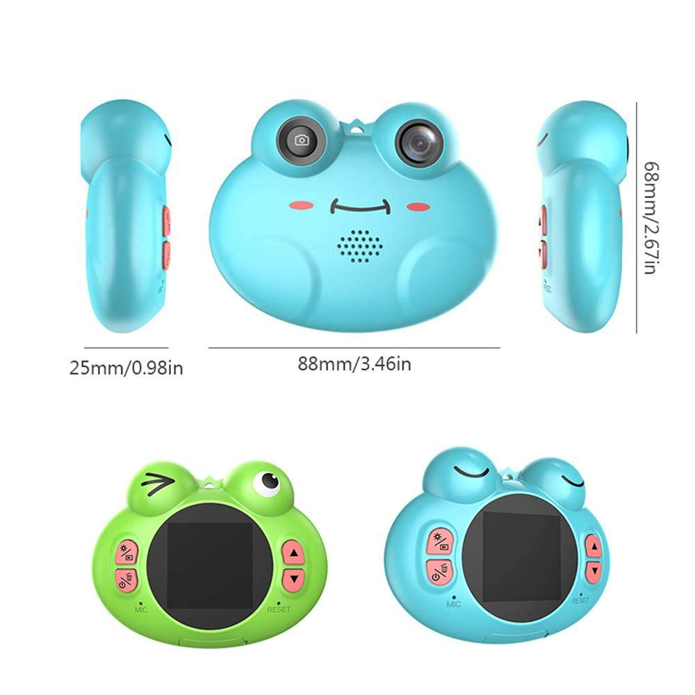 TEEPAO Child Camcorder, HD 1080P Frog Child Toy Camera with Neck Strap, Soft Silicone and Lightweight, Children Selfie Toy Camera for Boys and Girls by TEEPAO (Image #2)