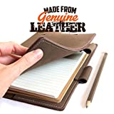Genuine Leather Notebook Journal - A5 Leather Covers - Life Book Note Book - Journal Books - College Lined Notebook A5 - Diary Notebooks for Women - Leather Mens Journals