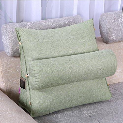 lumière vert 605020cm Lit Dossier Coussin Lit Coussin Chevet Coussin Tissu en coton doux coussin soucravaten lombaire détachable et lavable 11 couleurs unies 2 tailles disponibles
