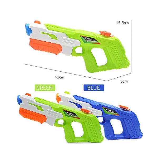 O-Kinee Pistola ad Acqua Pistole 2 PCS di Grande capacità Pistole d'Acqua Giocattolo Blaster,per Piscina Estiva all… 2 spesavip