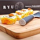 GOUGIRI RYU Authentic Japanese Damascus 8 Inch Chef Knife, VG10 Professional Stainless Steel Gyuto, Premium Craftsmanship in Japan Seki City, Sharp Blade, Ergonomic Wooden Handle, Japan Award Winning