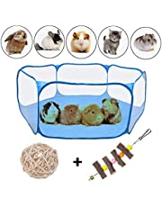 """VCZONE Small Animals Foldable Exercise Playpen,Portable Yard Fence for Guinea Pig, Rabbits, Hamster, Chinchillas and Hedgehogs (47.2"""", Blue)"""