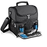 ONIVA - a Picnic Time Brand Pranzo Insulated Lunch Tote, Waves Collection