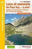 Lacs et sommets pays Toy...à pied : Barèges/Luz-St-Sauveur/Gavarnie/Parc national des Pyrénées. 24 promenades & randonnées
