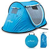Pop-up Tent An Automatic Instant Portable Cabana Beach Tent - Suitable For upto 2 People - Doors on Both Sides - Water-resistant & UV Protection Sun Shelter – With Carrying Bag, Sets up in Seconds!