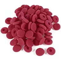 uxcell 100 Pcs Red Soft Sponge Earphone Headphone Ear Pad Cover Replacement