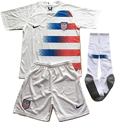 4acf64195 MilkaGGT USA National Team 2018-2019 Youths Home Soccer Jersey   Socks Set  (7-8 Years Old)
