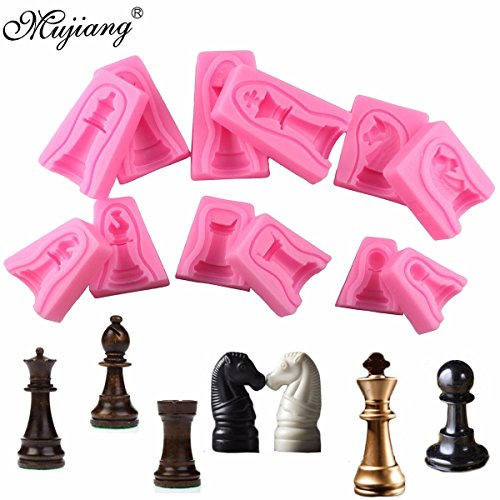 Star Trade Inc - ( 12Pcs/ set) International Chess Cake Silicone Mold Fondant Cake Decorating Tools Chocolate Candy Molds Soap Resin Clay Moulds