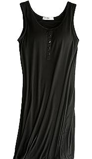 Hiwil Womens Modal Padded Bra Sleepwear Chemise Nightgown Full Slip Lounge  Dress ba0980a0a