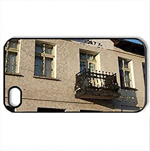 Old House - Case Cover for iPhone 4 and 4s (Houses Series, Watercolor style, Black)