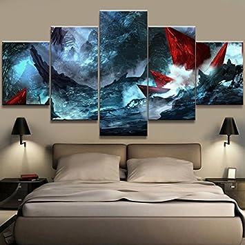 Amazonde Moderne Leinwand Gemälde Rahmen Hd Gedruckt Wand Kunst