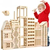 Loobani 100 PCS Kids Toddlers Building Blocks Wooden Toys Set, Suitable for Boys & Girls Above 3 Years Old Reviews