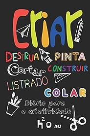 Criar Destrua Pinta Cortar Construir Listrado Colar: Deixe a sua criatividade voar e destrua este diário usand