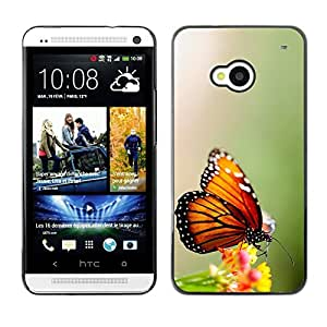 Impact Case Cover with Art Pattern Designs FOR HTC One M7 Wings Butterfly Flower Green Betty shop